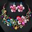 Women-Fashion-Bib-Choker-Chunk-Crystal-Statement-Necklace-Wedding-Jewelry-Set thumbnail 12