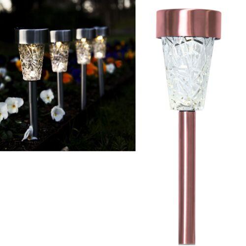 Hochwertige LED Solar-Leuchte mit Glas 26x7cm Solarlampe Garten-Balkon-Leuchten