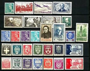 FRANCE-1942-Annee-Complete-30-Timbres-neufs-luxe-MNH