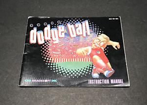 Super-Dodge-Ball-Instruction-Manual-Booklet-Nintendo-Nes-Authentic