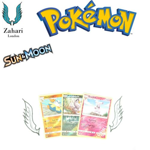 Un Sun /& Moon Base Set Reverse Holo Rare Common Individual Single Cards!