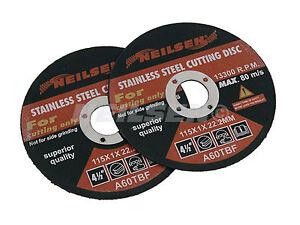 Paquete-De-2-Acero-Inoxidable-Fino-Discos-de-Corte-para-Metal-115MM-11-4cm