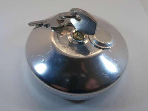 GAS CAP LOCKING WITH 2KEYS STAINLESS STEEL FIT VW TYPE1 BUG TYPE2 BUS 343201551C