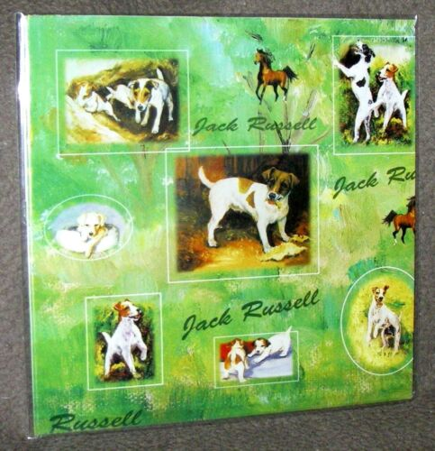 """PARSON /""""JACK/"""" RUSSELL TERRIER  Gift Wrapping Paper w//matching Gift Cards"""