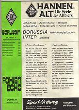 Orig.PRG   UEFA Cup  79/80    BORUSSIA MÖNCHENGLADBACH - INTER MAILAND  !!  TOP