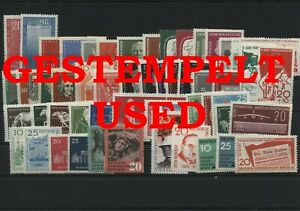 Germany-GDR-vintage-yearset-Complete-1958-Postmarked-Used-Without-Bl-15