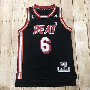 Adidas Miami Heat LeBron James #6 Hardwood Classics Black Jersey ...
