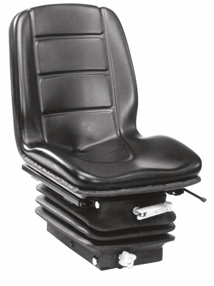 Sedile Compact con molleggio meccanico stretto con rivestimento in sky
