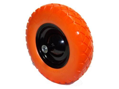 "2pcs 16/"" flat-free wheel barrow flat free tire Foamed Polyurethane wheelbarrow"