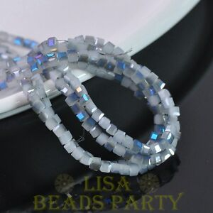 100pcs-4mm-Cube-Square-Faceted-Crystal-Glass-Loose-Spacer-Beads-Jade-Half-Blue