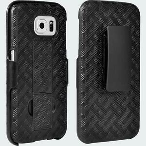Shell-Holster-Combo-with-Kickstand-for-Samsung-Galaxy-S-6-Black