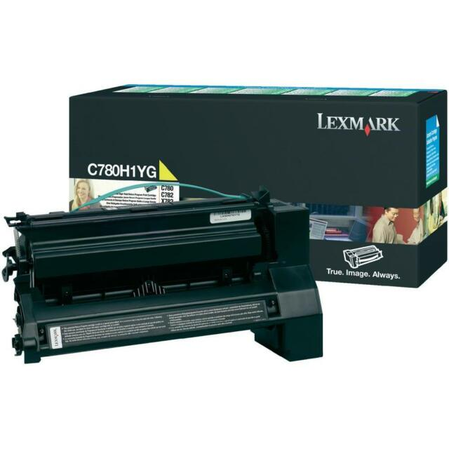 original Lexmark Toner c780h1yg gelb C780 C780N C782  X782 A-Ware