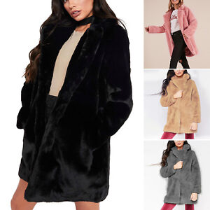Women-Oversized-Knee-Coat-Ladies-Long-Vintage-Faux-Fur-Fluffy-Winter-Warm-Jacket