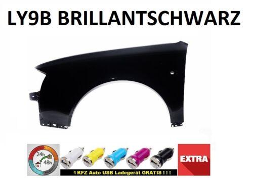 Audi a6 c5 guardabarros ly9b negro brillante nuevo 97-01 enlaces nuevo pintada