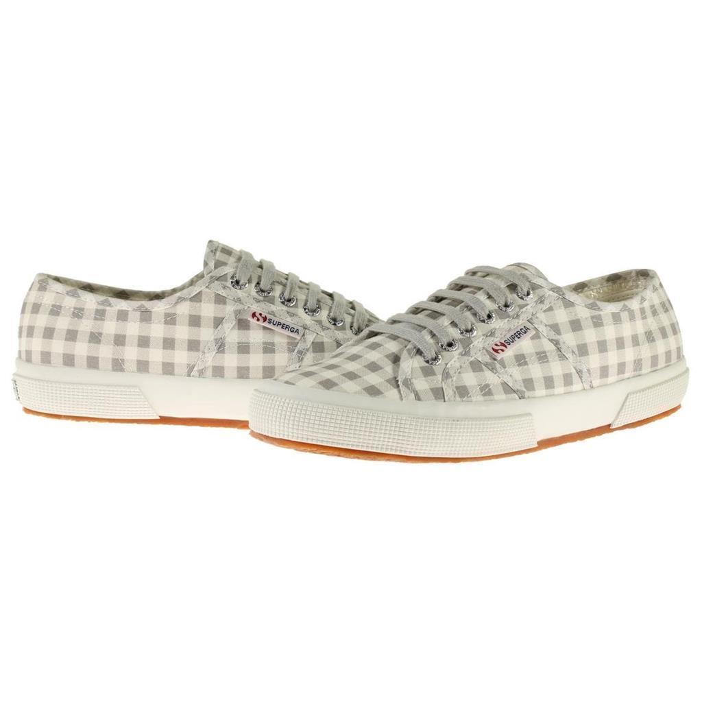 Superga Grau & Weiß Weiß Weiß CheckeROT Gingham Checks Sneakers Tennis Schuhes Wms 8.5 NWT 7795ab