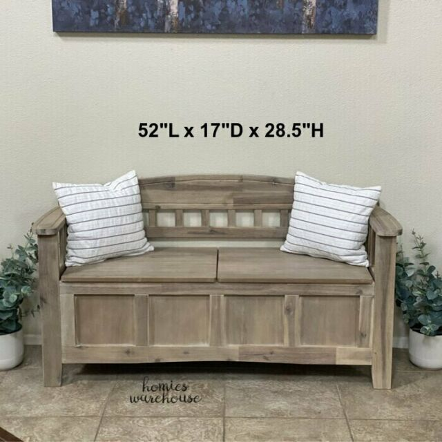 French Country Farmhouse Style Salvaged Wood Long Dining Bench Large 76 Seating For Sale Online Ebay