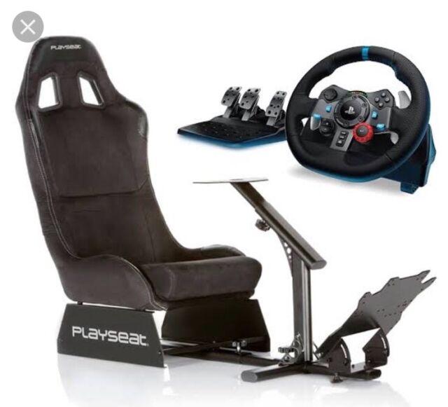 Playseat Evolution (Black) with Logitech G29 Racing Wheel + speed shifter