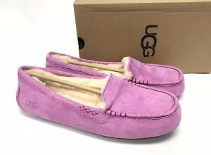 5b979e5c5ef Details about UGG Australia Ansley Bodacious Pink Suede Moccasin Slippers  Slip On Shoes 3312