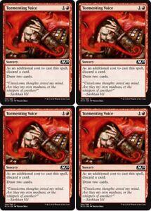 4x TORMENTING VOICE Khans of Tarkir MTG Red Sorcery Com