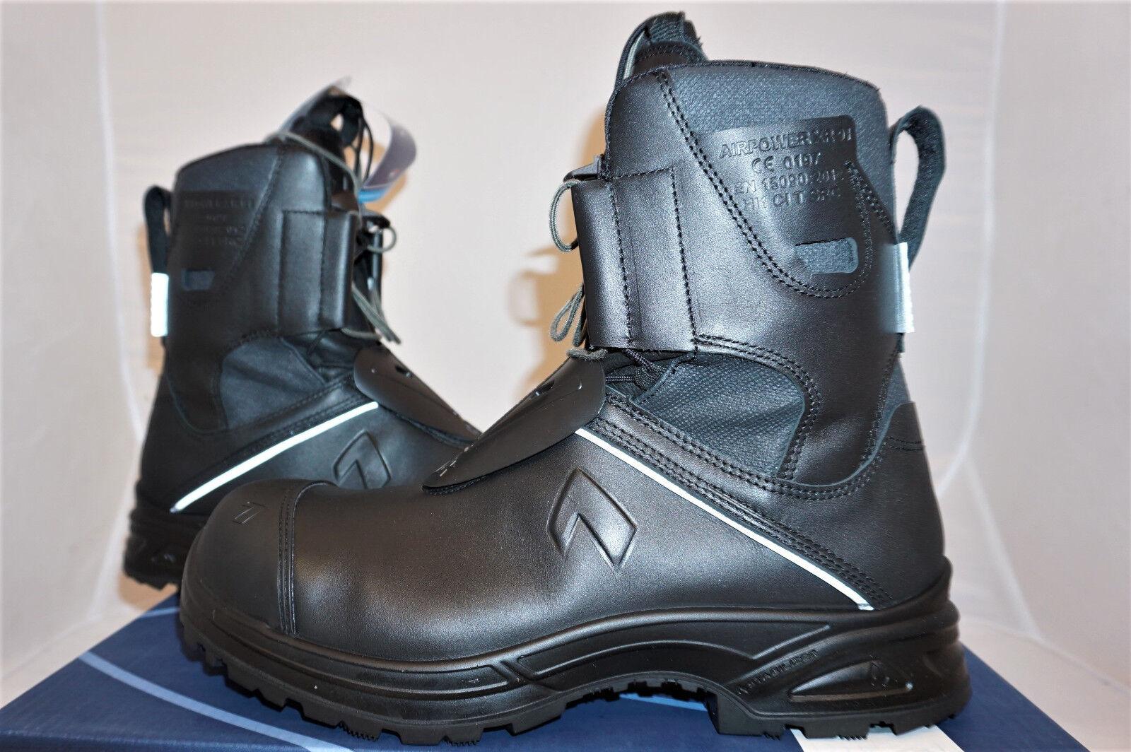 HAIX AIRPOWER xr91 UK 8 UE 42 US 9 Pompiers bottes Cuir Travail bottes Nouveau