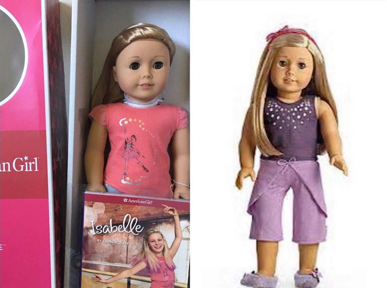 Lote Muñeca American Girl Isabelle y libro y nuevo en caja PJ 's