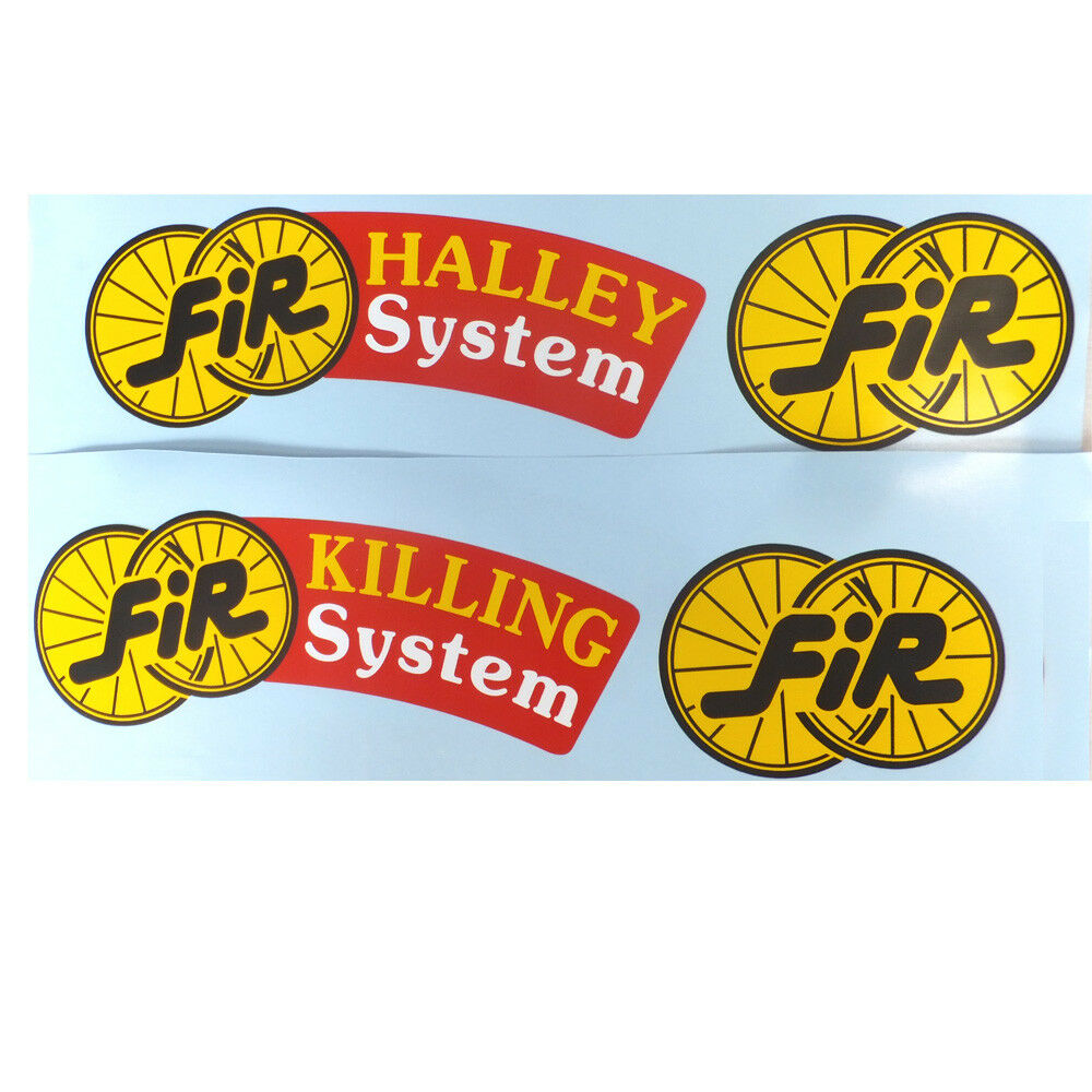 FIR Halley System or Killing System disc decals one wheel per sale