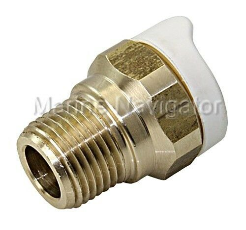 """WHALE Quick Connect 15mm Pipework Pipe System Adapter Brass 1//2/"""" External"""