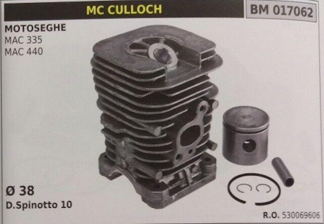 530069606 Zylinder Komplett und Kolben Kettensäge Mcculloch Mac 335 440 Ø 38