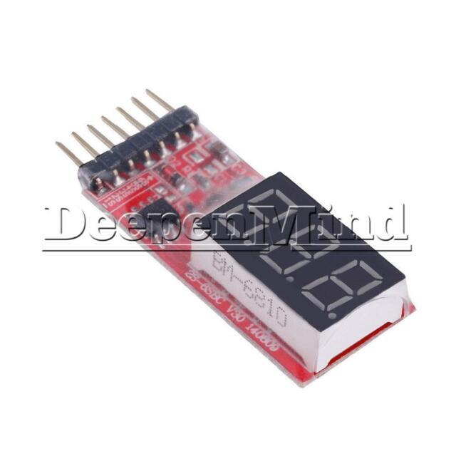 2-6s RC Voltage Li-Po Battery Volt Meter Tester Indicator 2-6 Cells LED Panel