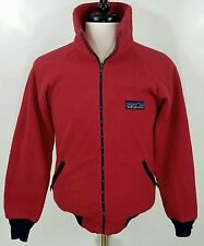 Vintage 90's Patagonia thick fleece jacket red full zip XS / Small