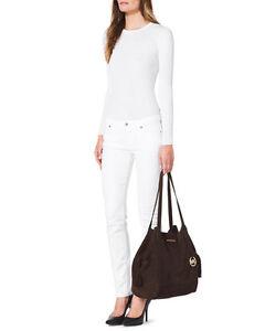 MICHAEL-KORS-MK-NEW-XL-Ashbury-Coffee-Brown-Leather-Grab-Bag-Handbag-Purse-NEW