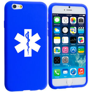 For-Apple-iPhone-4-5-5s-5c-6-6s-Silicone-Soft-Rubber-Case-Cover-Star-of-Life-EMT