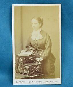 Image Is Loading Victorian CDV Photo Carte De Visite Attractive Young