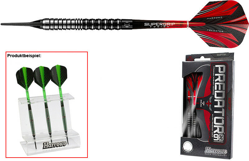 Darts Darts Darts HARROWS Protator Softdarts + Dartständer - Dart Set b1d30a