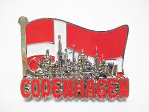 Kopenhagen-Metall-Magnet-Flagge-Collage-Souvenir-Daenemark