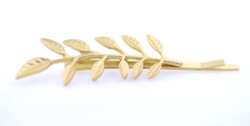 Tendance Art Déco Royal motif style couleur or leaf pince à cheveux barrette