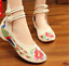 Chinese-Embroidered-Floral-Shoes-Women-Ballerina-Flat-Ballet-Cotton-Loafer-snug thumbnail 13