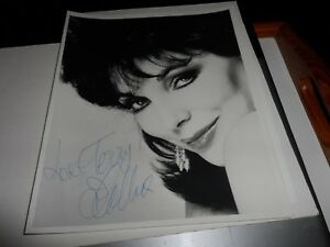 AUTOGRAPH-ON-10-X-8-PHOTO-JOAN-COLLINS
