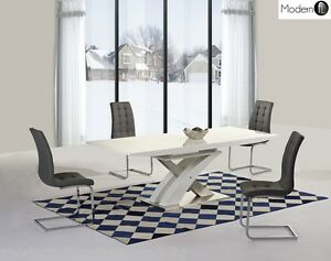 Merveilleux Image Is Loading MODERN WHITE HIGH GLOSS EXTENDING DINING TABLE AND