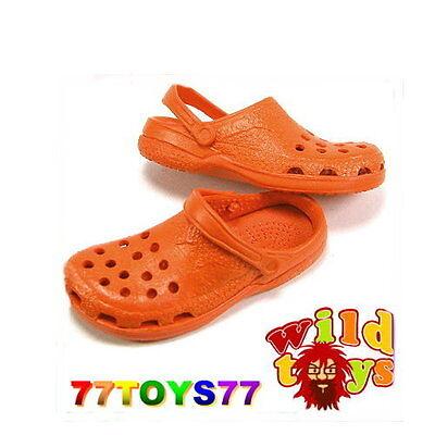 Wild Toys 1/6 Clogs_ Orange_ Sandel Fashion Shoes   WT006D