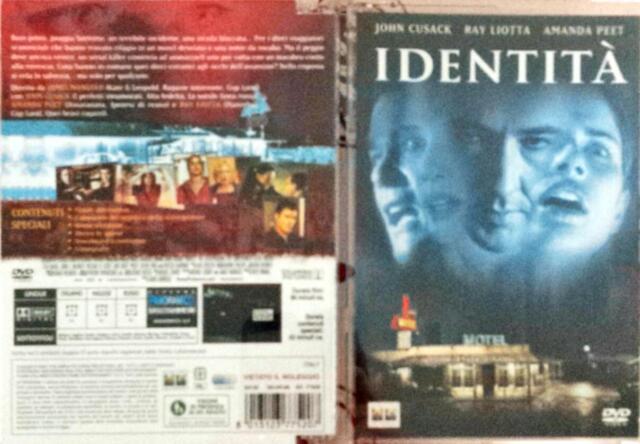 Identità (2003) DVD Jewel Box