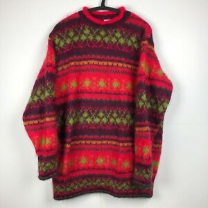 Vintage UNITED COLORS Of BENETTON Colorful Knit Sweater  S