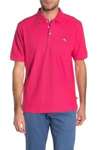NWT-Tommy-Bahama-Men-039-s-SZ-M-Glazed-Rasberry-Emfielder-2-0-Polo-Shirt