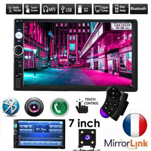 7-034-Double-2DIN-Autoradio-Lecteur-MP3-MP5-Bluetooth-Stereo-Radio-Video-FM-USB-AUX
