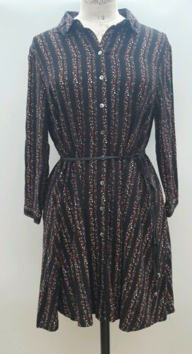 10 Black Tea Hush Dress Star Cotton Swing Boho vq476zw