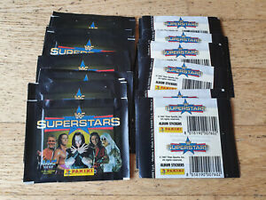Panini WWF Superstars 1997, 25 sticker packs, D. Johnson The Rock, rookie, PSA?