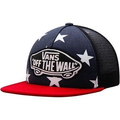 f12cac35f78 VANS Womens Trucker Hat (NEW) Americana USA Flag STARS Stripes AMERICA  Snapback