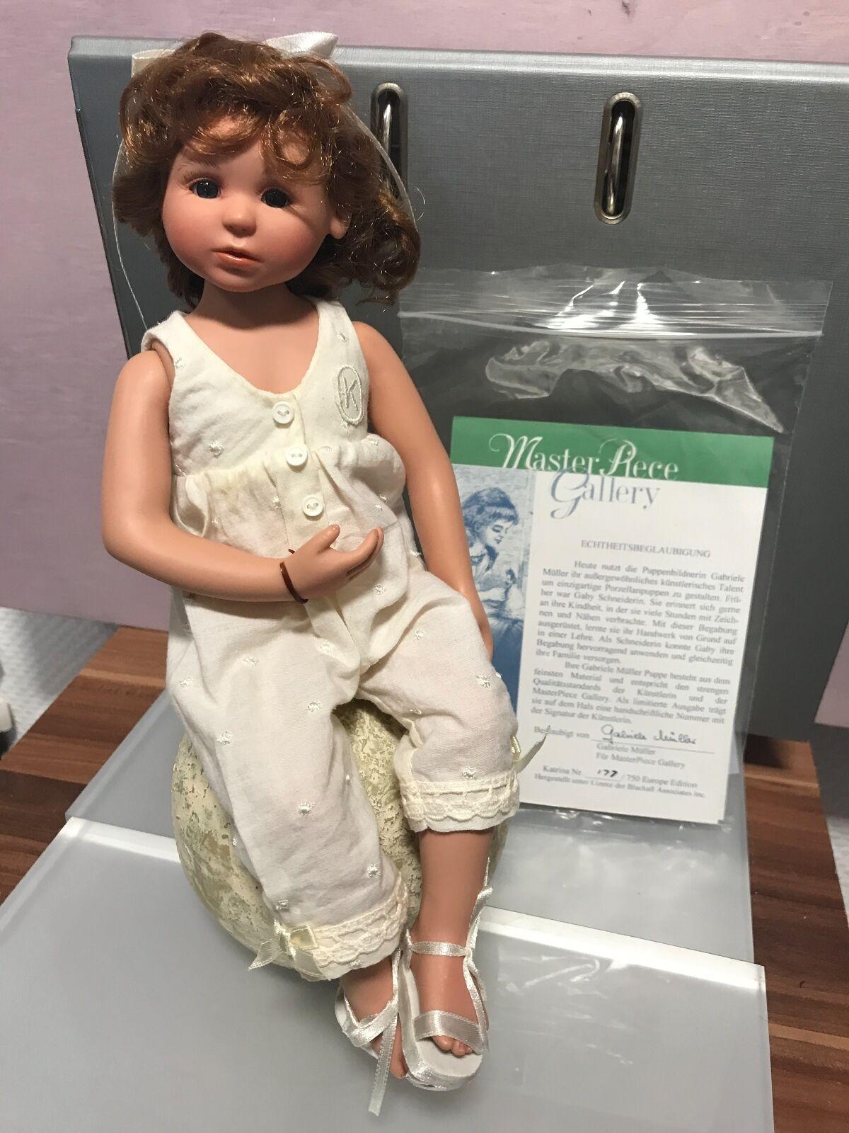 Gabriele Müller vinile bambola Katrina 29 CM. OTTIMO stato