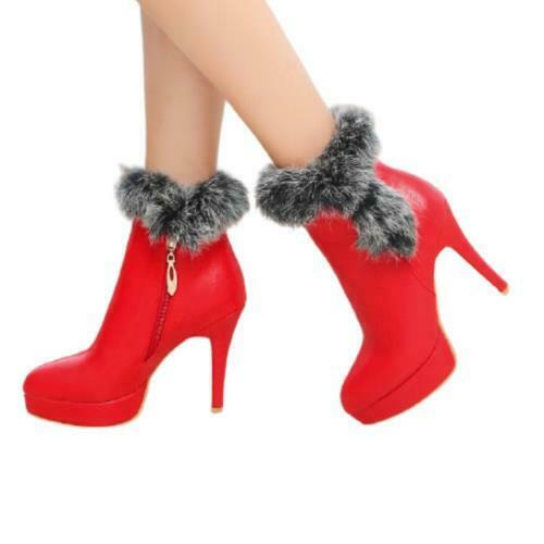 Details about  /Sexy Women Ladies High Heel Pointy Toe Stilettos Ankle Boots 44 45 46 Outdoor D