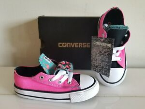 bf28ac4d8242 Image is loading NEW-Girl-CONVERSE-Two-Style-Sneakers-Shoes-Size-